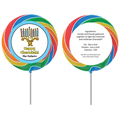 Chanukah Menorah Lollipop