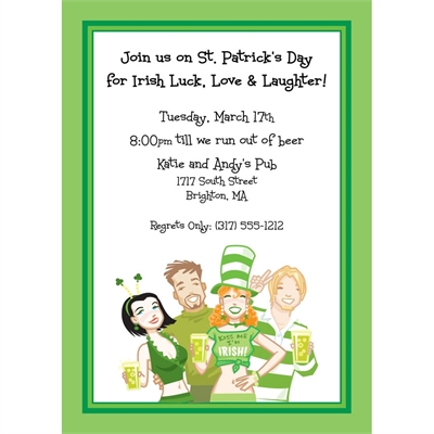 St. Patrick's Day Pub Invitation