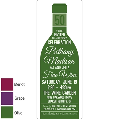Wine Theme Invitation