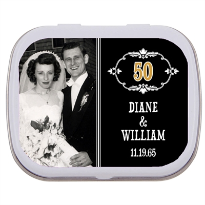 50th Anniversary Vintage Photo Mint Tin