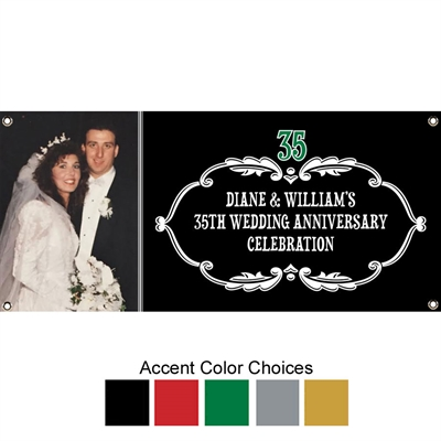 Vintage Anniversary Photo Banner