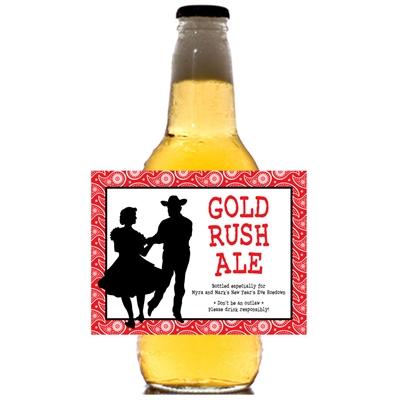 Western Hoedown Theme Bottle Label, Beer