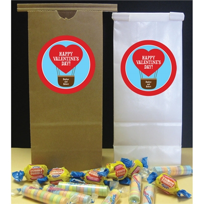 Heart Hot Air Balloon Party Favor Bag