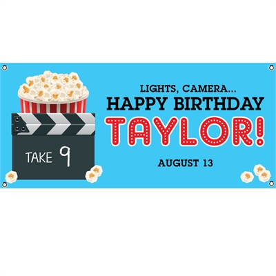 Movie Clapboard Banner