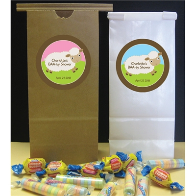 Baby Sheep Theme Baby Shower Party Favor Bags