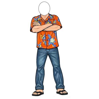 Hawaiian Shirt Guy Lifesize Cutout