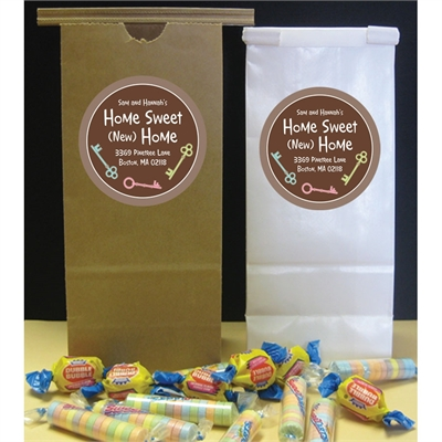 Housewarming Keys Custom Party Favor Bag