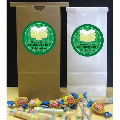 St. Patrick's Day Green Beer Theme Favor Bag