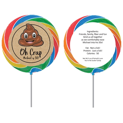 Party Pooper Theme Birthday Lollipop