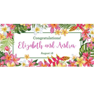 Tropical Flower Banner