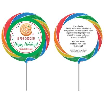 Christmas Cookie Exchange Party Lollipop