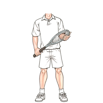 Tennis Male Cutout