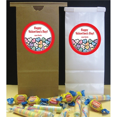 Valentine's Day Candy Hearts Party Favor Bag