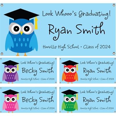 Graduation Owl Theme Banner
