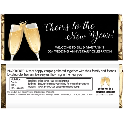 Champagne Toast Theme Candy Bar Wrapper