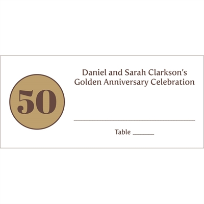 50th Anniversary Theme Seating Card