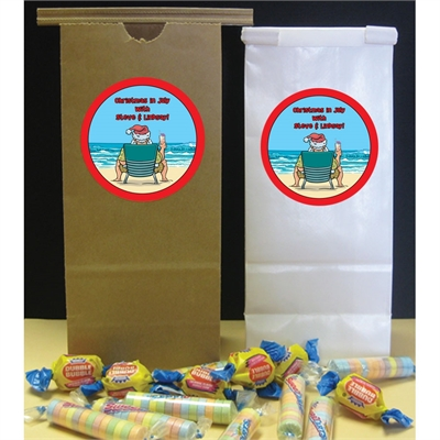 Christmas in July Theme Party Favor Bag