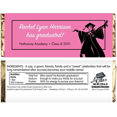 Graduation For Her Theme Candy Bar Wrapper