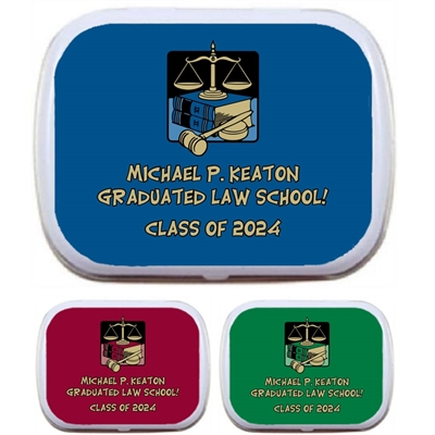 Graduation Law School Mint Tin