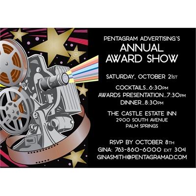 Movie Film Reel Party Invitation