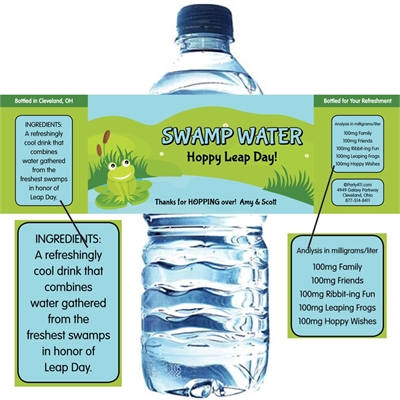 Leap Day Party Water Bottle Label