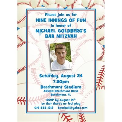 Baseball All Star Invitation