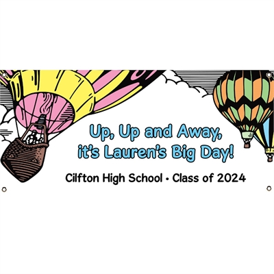 Graduation Up Up and Away Theme Banner