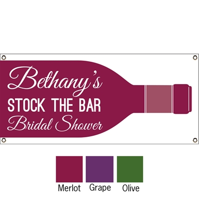 Wine Theme Shower Banner