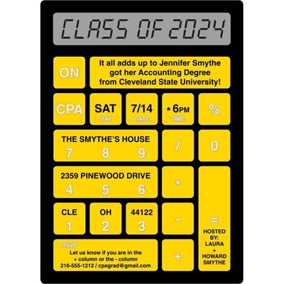 Graduation Calculator Invitation