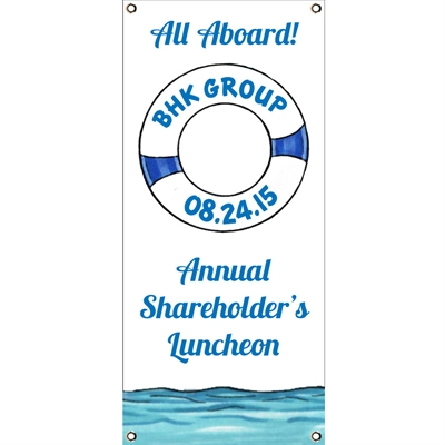 Cruise Theme Banner, Vertical