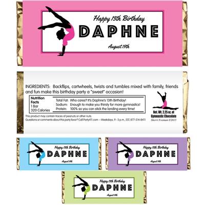 Gymnastics Theme Candy Bar Wrapper