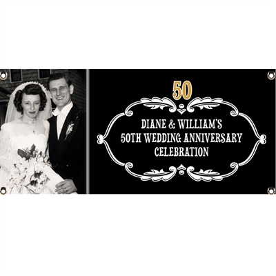 50th Anniversary Vintage Photo Banner