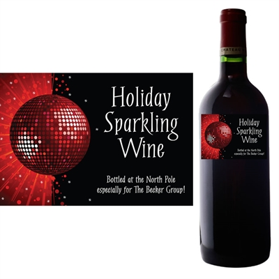 Holiday Party Wine Bottle Label