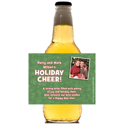 Christmas Photo Theme Beer Bottle Label