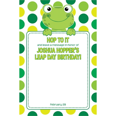 Leap Day Frog Theme Sign in Board