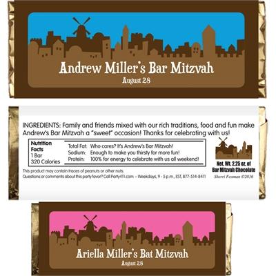 Jerusalem Skyline Candy Bar Wrapper