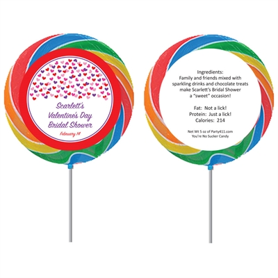Heart Confetti Theme Lollipop