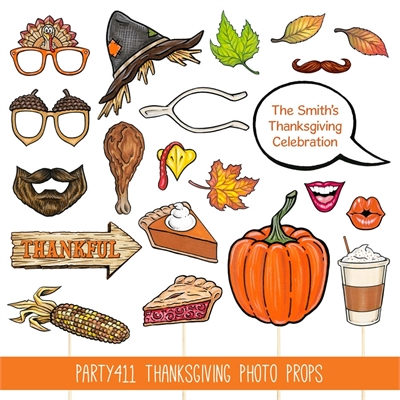 Thanksgiving Activity Photo Booth Props