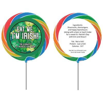 St. Patrick's Day Green Shamrocks Lollipop
