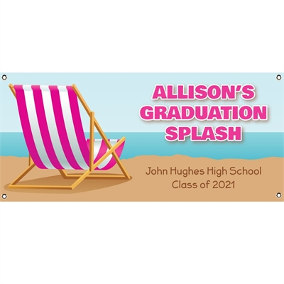 Graduation Beach Bash Theme Banner