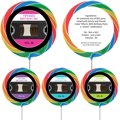 Mix Tape Theme Lollipop