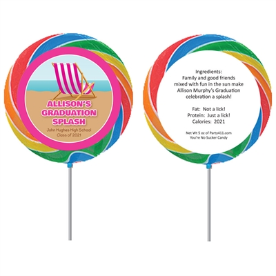 Graduation Beach Bash Theme Lollipop