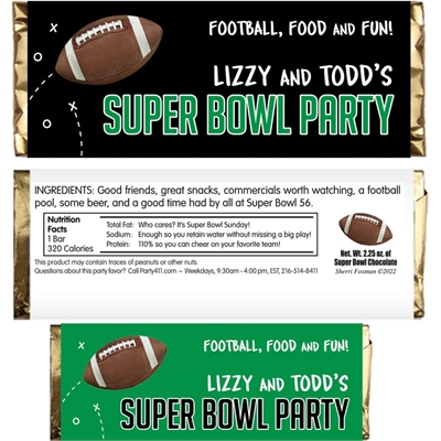 Football Party Theme Candy Bar Wrapper