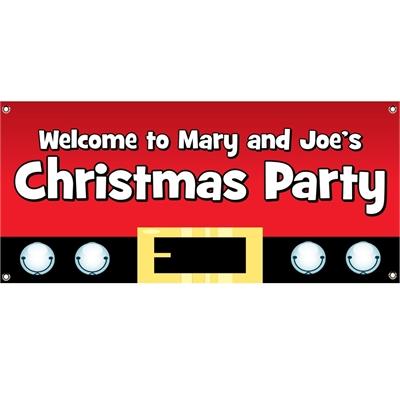 Christmas Santa Suit Theme Banner
