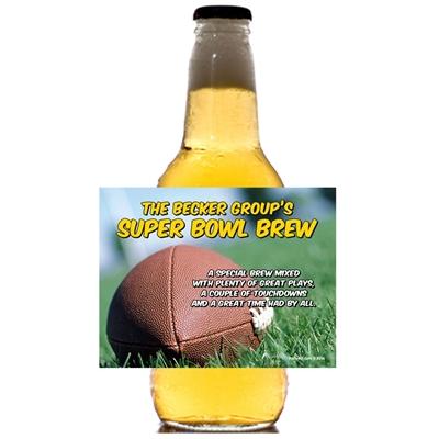 Football Bash Theme Beer Bottle Label