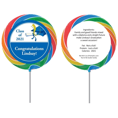 Graduation Cap Custom Lollipop