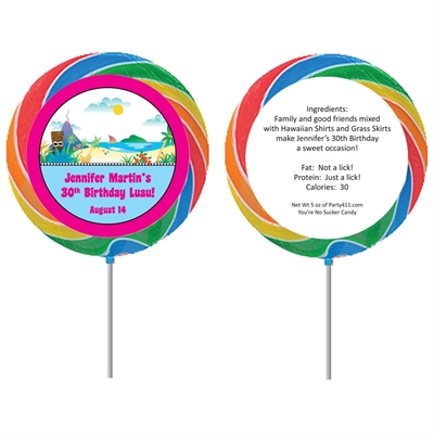 Luau Beach Theme Lollipop