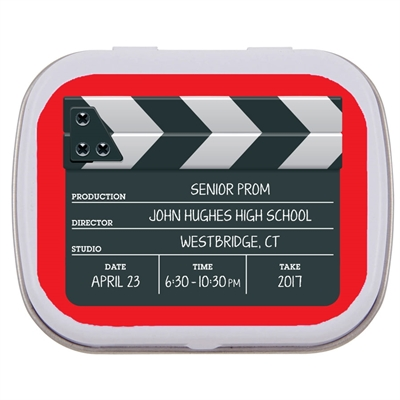 Movie Clapboard Mint and Candy Tin