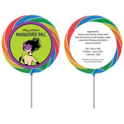 Halloween Masquerade Lollipop
