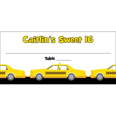 New York Taxis Theme Seating Card